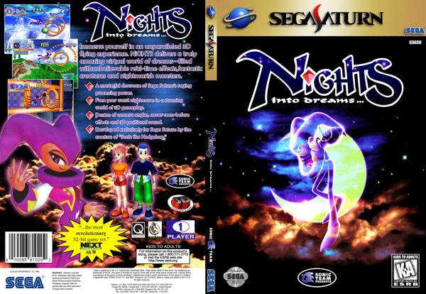 NiGHTS Into Dreams Slim DVD Insert