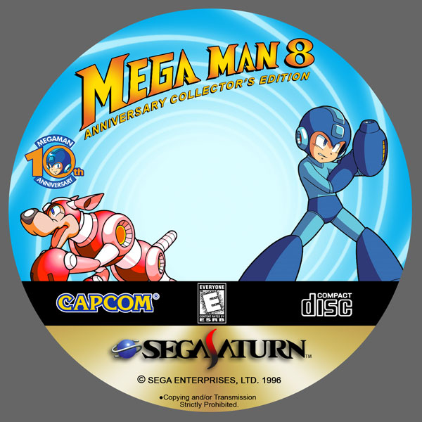 MegaMan 8 CD Label