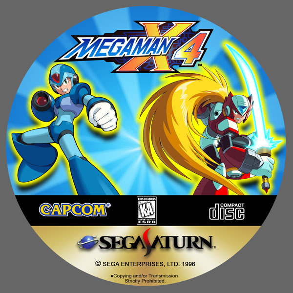 MegaMan X4 CD Label