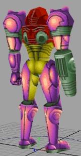 Super Metroid Redux - Samus model back