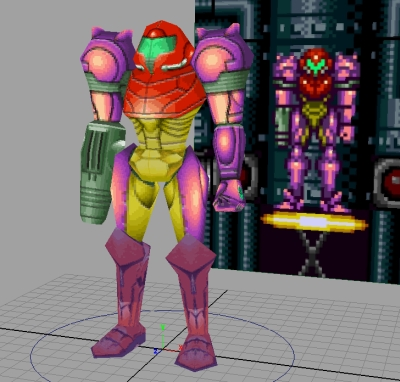 Super Metroid Redux - Samus model