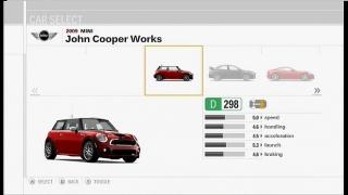 Forza Motorsport 3 car selection screen