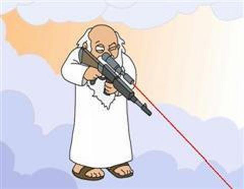 God is a sniper