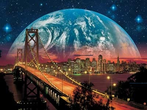 Shiny Planet Over San Francisco