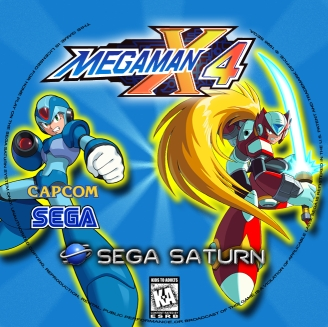 MegaMan X4 Disc Label