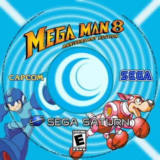 MegaMan 8: Anniversary Edition - Sega Saturn Disc Label