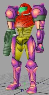 Super Metroid Redux - Samus model front